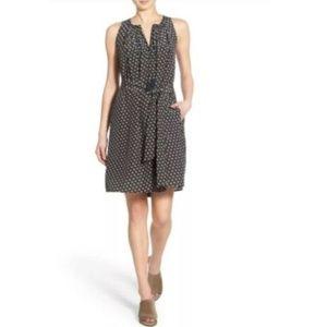 Madewell Silk Ville Dress Coin Tile Tassel L +belt